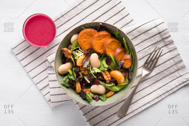 Sweet potato and cranberry salad