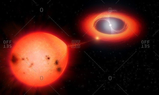 Intermediate polar star system, illustration