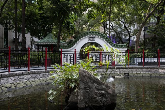 Hong Kong, China - September 7, 2018: Hollywood Road Park in Hong Kong