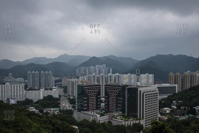 Hong Kong, China - September 8, 2018: North Kowloon skyline
