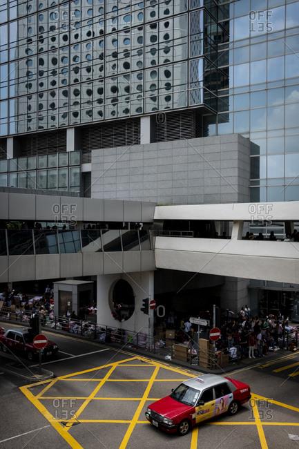 Hong Kong, China - September 9, 2018: The Central Mid Level passageway