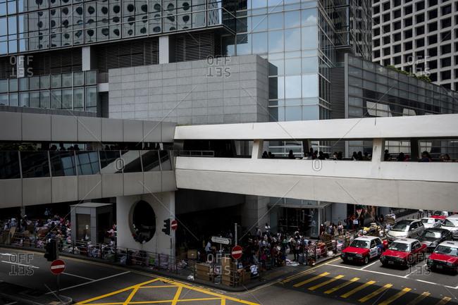 Hong Kong, China - September 9, 2018: Central Mid Level passageway