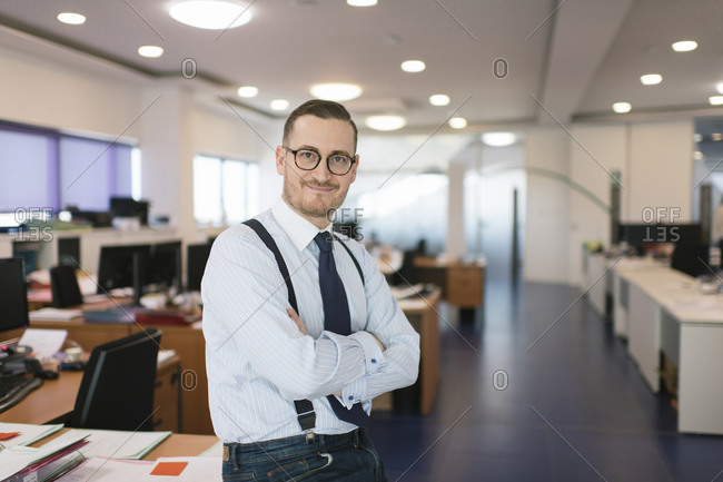 Portrait of confident businessman in the office