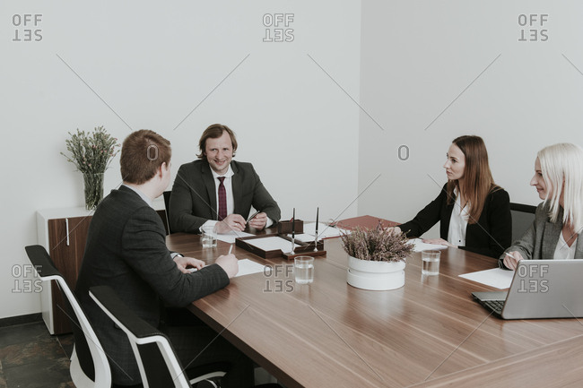 Business people having a meeting in conference room