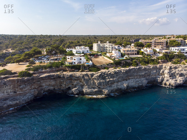 Spain- Balearic Islands- Mallorca- Llucmajor- Aerial view of bay