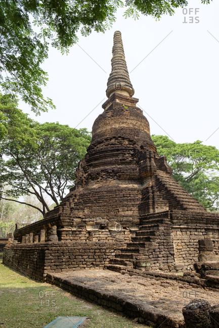 Thailand- Sukhothai- Si Satchanalai Historical Park- pagoda
