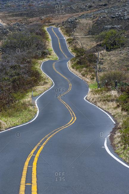 USA- Hawaii- Maui- winding road on the south coast