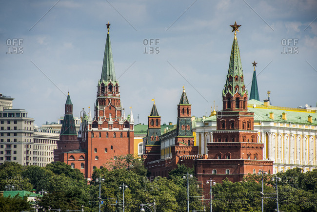 Russia- Moscow- towers of the Kremlin