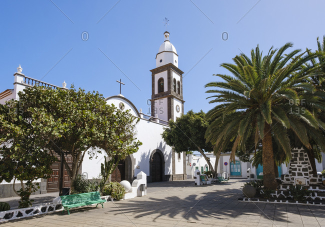 February 24, 2019: Spain- Canary Islands- Lanzarote- Arrecife- San Gines church