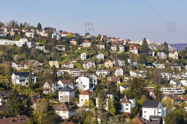 Germany- Stuttgart- Haigst- residential area with modern houses