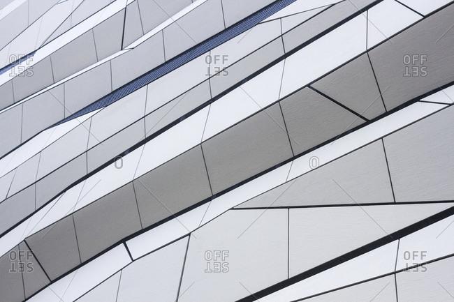 Detail of an interesting building facade in Poznan, Poland