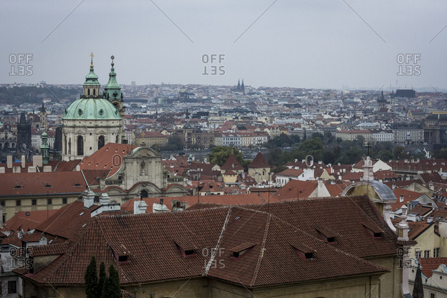 Looking out over Prague, The Czech Republic.