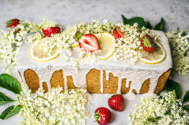 Lemon Elderflower Loaf Cake