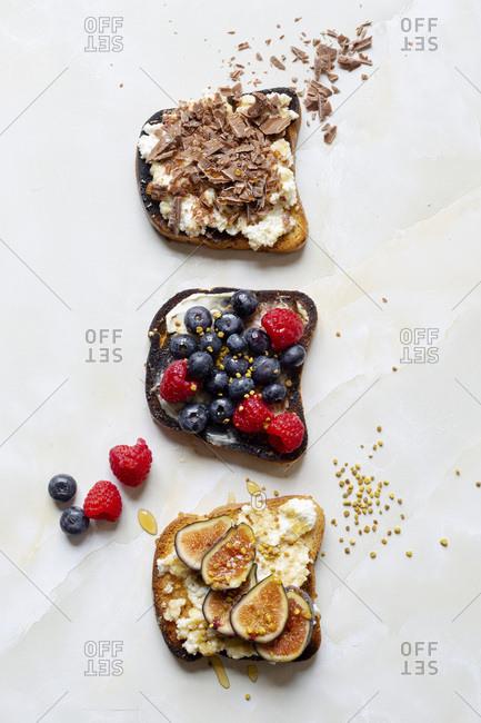 Vegetarian Open Face Sandwich Assortments
