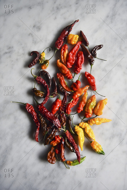 Chillies on Marble