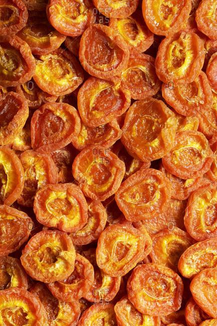 Australian dried apricots; background.