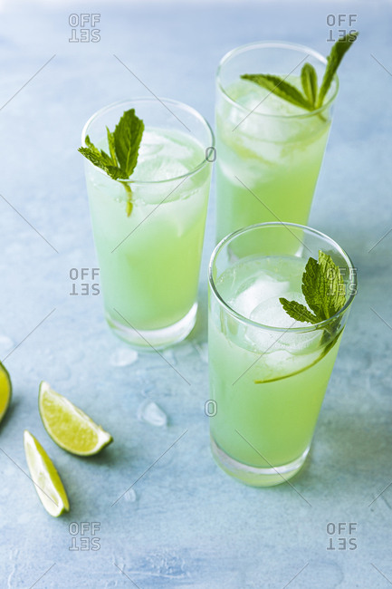 Three limeade beverages