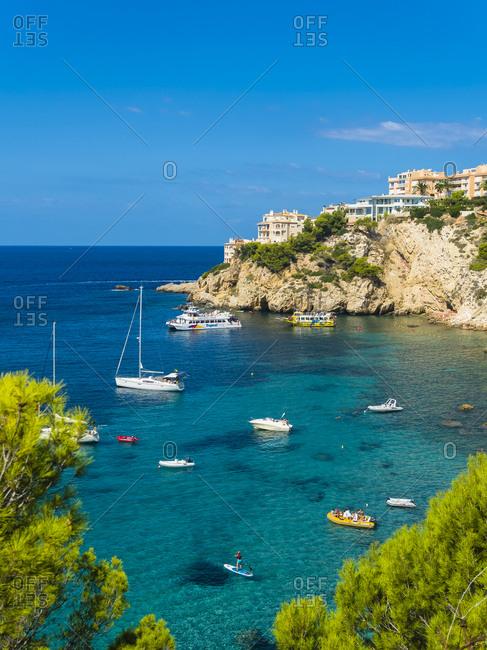 September 2, 2017: Spain- Balearic Islands- Mallorca- Santa Ponca- Isla Malgrats- Bay