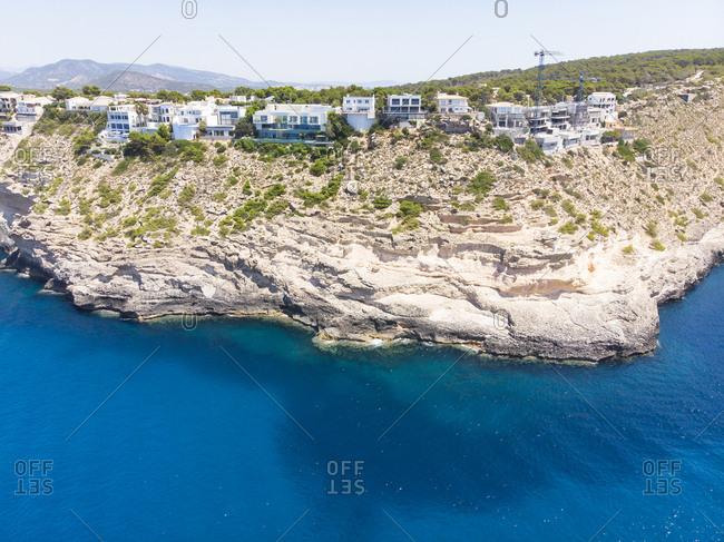 Spain- Majorca- Costa de la Calma- Punta el Torre and Port Adriano- aerial view