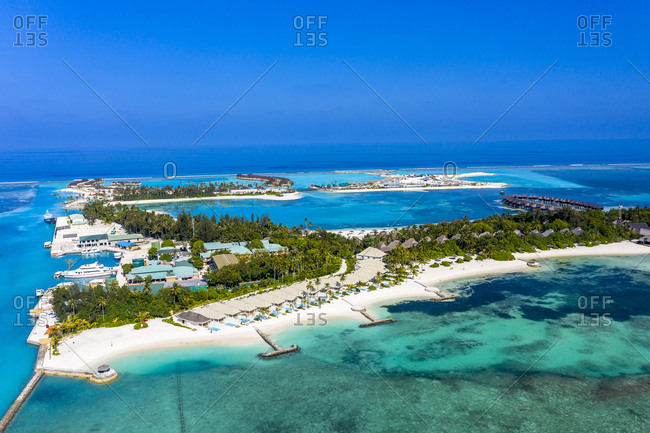 Maldives- South Male Atoll- Olhuveli- aerial view