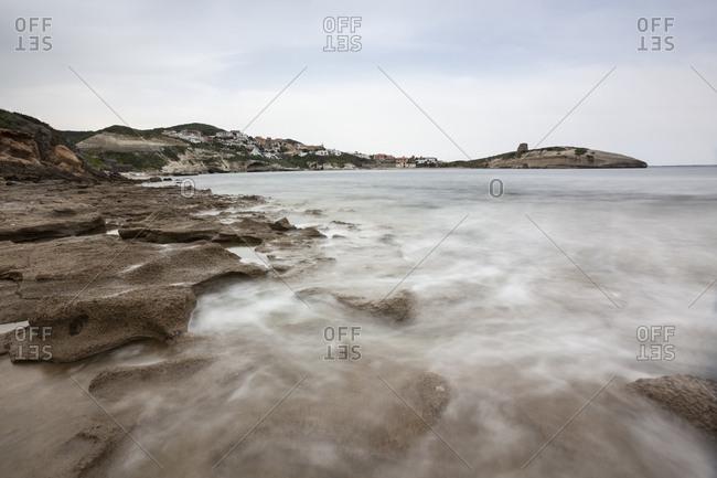 Italy- Sardinia- S'Archittu- rocky coast