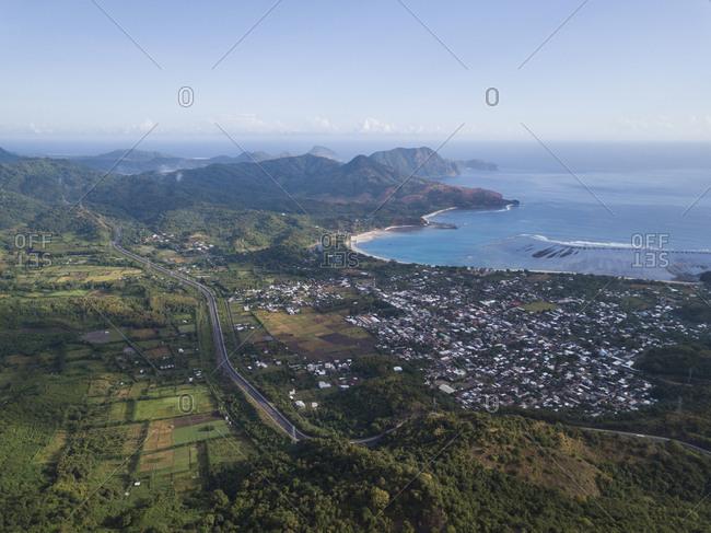 Indonesia- Sumbawa- Maluk- Aerial view