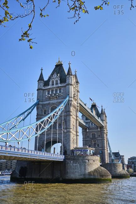 UK- London- River Thames and Tower Bridge