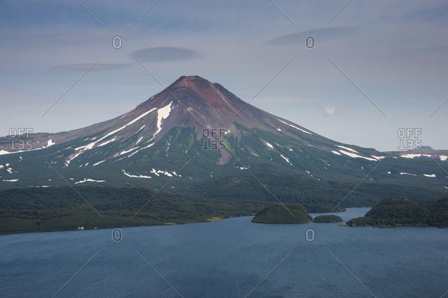 Russia- Kamchatka- Ilyinsky volcano- Kurile lake
