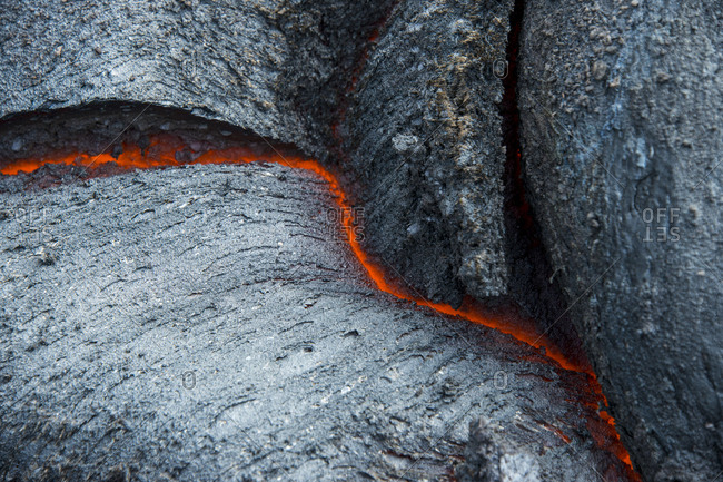 Active lava stream- Tolbachik volcano- Kamchatka- Russia