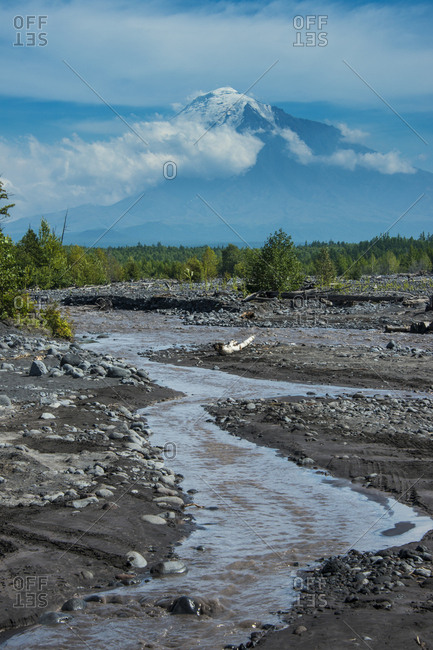 Little creek before the Tolbachik volcano- Kamchatka- Russia