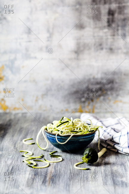 Zoodles- spiralized zucchini - Offset Collection