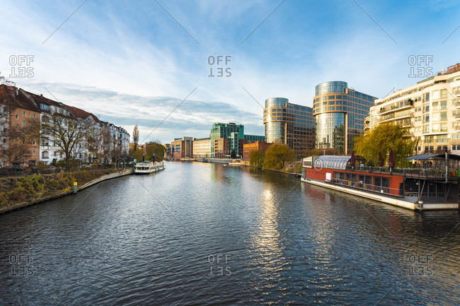 November 29, 2018: Germany- Berlin- view to Spree River