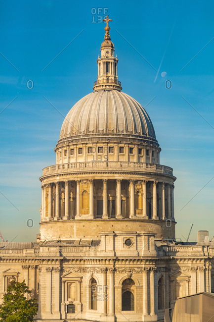 UK- London- The dome of St. Paul's Cathedral at a sunny day