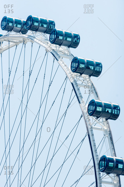 October 02, 2018: Singapore Flyer, observation wheel. The largest ferris wheel in the world. Singapore