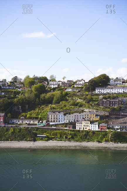 The Victorian terrace houses of Cobh, County Cork, Ireland