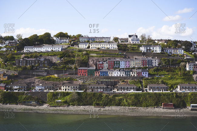 May 9, 2019: Victorian terrace houses of Cobh, County Cork, Ireland