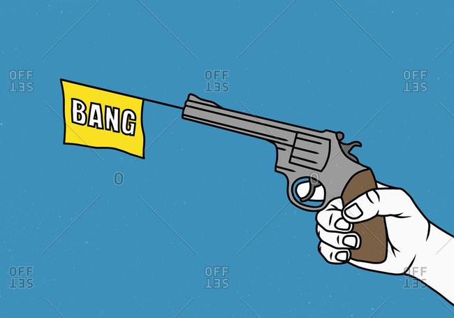 Man holding a toy gun