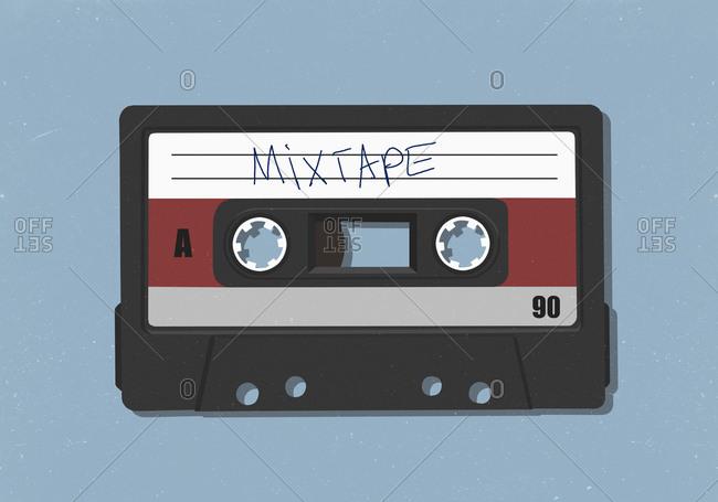 Retro mix tape cassette tape