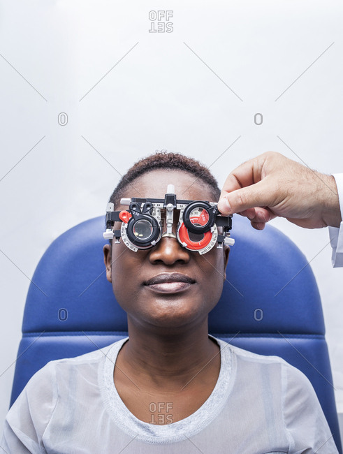 Studying a woman's eyesight