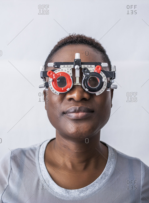 Studying a woman's eyesight