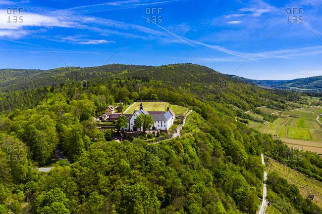 Panoramic view of Franciscan Monastery Engelberg- Bavaria- Germany