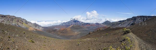 Haleakala volcano- Craters Kalu'uoka'o'o- Puu o Maui- Kamohoalii and Kalu'uoka'o'o- Maui- Hawaii- USA