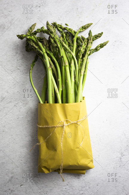 Asparagus in a paper bag