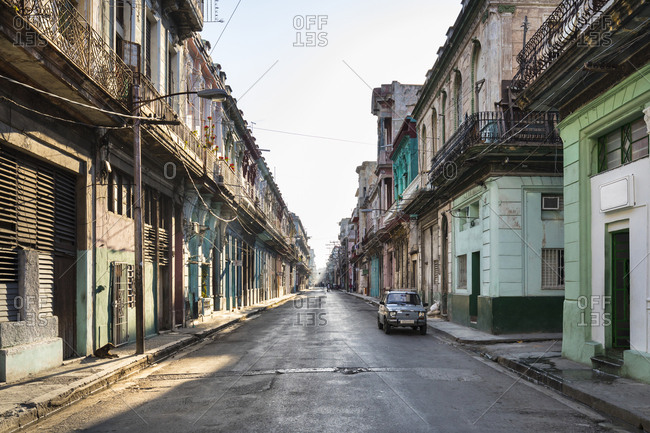 March 17, 2018: Empty street at the old town- Havana- Cuba