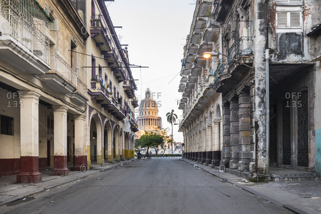 March 9, 2018: View to Plaza Vieja from above- Havana- Cuba