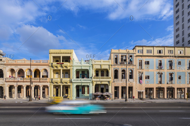 March 13, 2018: Street view at the old town- Havana- Cuba