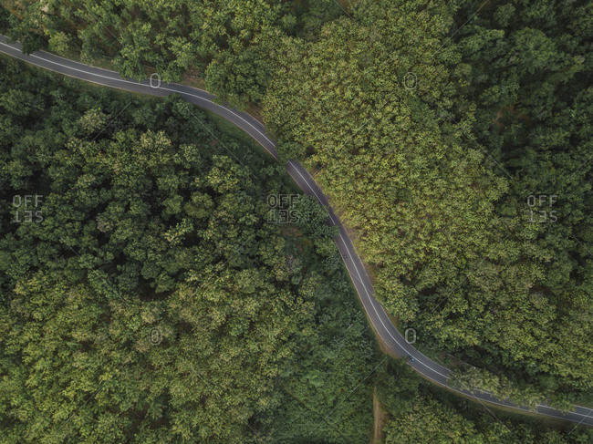 Aerial view of a road in mountains- West Sumbawa- Indonesia