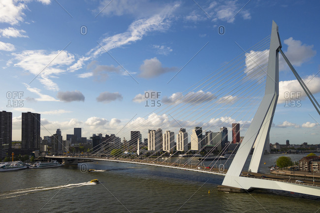 May 9, 2019: Erasmusbrug- Rotterdam- Netherlands