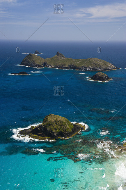 View from Malabar Hill on some little islet at Lord Howe Island- New South Wales- Australia