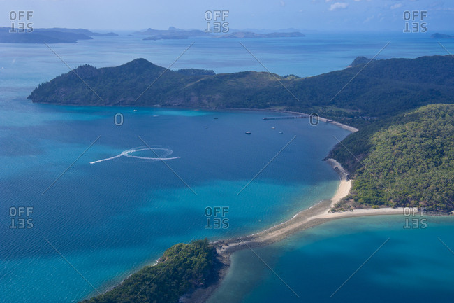 Aerial view of the Whitsunday Islands- Queensland- Australia